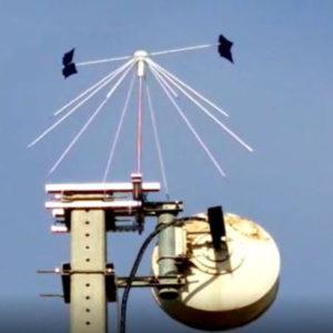 sistema giratorio sobre antena